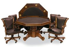 Executive Game Table Set (with 4 chairs) (Chestnut) Fairview Game Rooms http://www.amazon.com/dp/B00F8HF4V0/ref=cm_sw_r_pi_dp_FNDnvb0N6EMM9