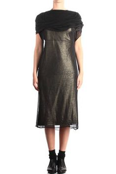 draped tube dress covered by voile tunic - JUNYA WATANABE