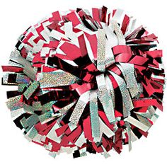 Raise spirit with these custom cheerleading pom poms that mix metallic color and holographic color streamers. Shop custom cheer pom poms at the lowest price. Cheerleading Pom Poms, Cheer Pom Poms, School Cheerleading, Vikings Game, Shiny Shoes, Red Team, Metallic Colors, Metallic Shoes, Big Bows