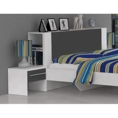Could A Headboard Like This Plus Wallmounted Lighting Solve Our - Tete de lit avec rangement 90 cm
