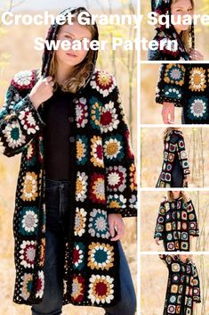 granny square poncho Here's an Easy to Crochet Granny Square Coat Sweater Pattern to Make Crochet Granny Square Cardigan pattern Crochet Jacket Pattern, Gilet Crochet, Crochet Coat, Crochet Cardigan Pattern, Granny Square Crochet Pattern, Crochet Granny, Crochet Clothes, Crochet Patterns, Easy Crochet