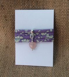 triple wrap hand tied Liberty print bracelet from Mums Jewellery Shed (Facebook page)