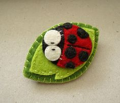 Felt Ladybug (from 11 Dec 2011) - no tutorial, many more cuties at the link.