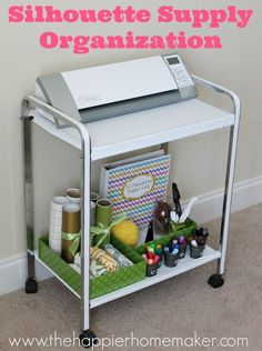 Silhouette Supply Organization Cart– January Silhouette Challenge