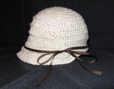 Flapper hat, (crochet pattern}
