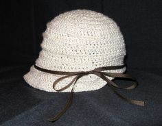 Free crochet pattern: flapper hat.