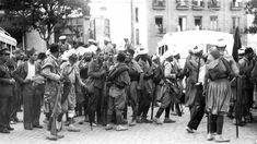 Llegada a Sevilla de las fuerzas de Marruecos, dos días después del inicio de la Guerra Civil  SERRANO