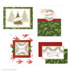 We just wish we could send Christmas cards out all year. #handmadecards #crafting