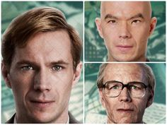 james-d-arcy-cloud-atlas.............James D'Arcy  British actor D'Arcy gets to play both the young and old versions of one character (in two separate stories), but his biggest transformation is in a smaller role as an Asian archivist. All characters played: Young Rufus Sixsmith / Old Rufus Sixsmith / Nurse James /Archivist.