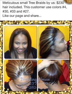 Tree braids w/color