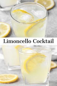 Lemon Vodka Drinks, Limoncello Cocktails, Lemon Drink, Vodka Cocktails, Limoncello Vodka Recipe, Vodka Sour Recipe, Homemade Limoncello, Vodka Recipes, Alcohol Drink Recipes