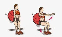 agachamento com bola ajuda endurecer as coxas gordas e flácidas