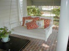Porch swing-cozy cushions