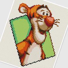 sandylandya@outlook.es PDF Cross Stitch pattern 0257.Tigger (Winnie the Pooh) by PDFcrossstitch