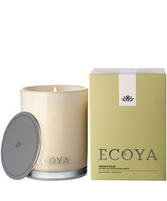 Ecoya French Pear Madison Jar Candle 400g | Scented Candles by Ecoya | Liberty.co.uk