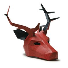 NEED A FANCY DRESS COSTUME? Make your own STAG or REINDEER MASK from recycled card with these easy to follow instructions. These digital templates enable you to download, print and build your very own unique low polygon 3D Mask. You'll require no experience, no shipping and no waiting