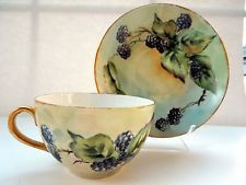 1899-1919 Royal Austria Cup Saucer Oscar Edgar Gutherz  Fruits Blackberries HP