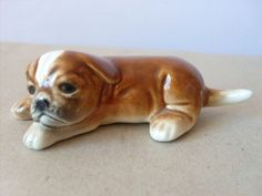 Vintage 1960s GOEBEL Brown Pup Puppy DOG by CovetedCastoffs