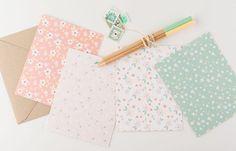 Spring Into Summer Floral Notecards with Kraft Envelopes