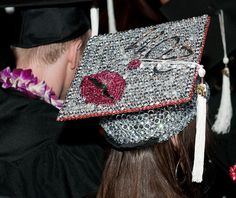 decorated mortar board | FIDM 2011 Graduation - Decorated Mortar Boards - Staples Center, Los ...