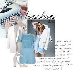 One of our favorite new looks for #Spring! This tailored blue playsuit from Top Shop!