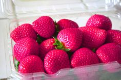Pink strawberries