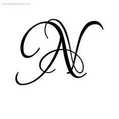 Letter N Calligraphy Lovers quarrel a-z calligraphy lettering styles . N Letter Design, Alphabet Letters Design, Hand Lettering Alphabet, Fancy Letters, Script Alphabet, Tatto Letters, Cursive Letters, Lettering Styles, Lettering Design