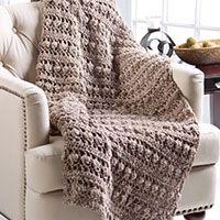free crochet pattern tree bark throw