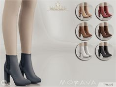 Block heeled booties for your sim! Come in 7 colours *leather texture).  Found in TSR Category 'Sims 4 Shoes Female'