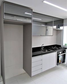 33 Gorgeous Modern Kitchen Cabinet You Can Copy Now - If you want to rebuild your kitchen, then you must pay an extra attention towards the kitchen cabinets. The old kitchen cabinets you had may have gott. Kitchen Room Design, Kitchen Cabinet Design, Modern Kitchen Design, Home Decor Kitchen, Interior Design Kitchen, Modern Kitchen Cabinets, Minimalist Kitchen, Apartment Kitchen, Home Decor Furniture