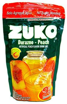 Buy Zuko Peach Flavor Drink Mix 14.1 oz at MexGrocer.com an online Mexican supermarket for Aguas Frescas. Peach Drinks, Fruit Drinks, Cold Drinks, Zuko, Fresco, Frozen Popsicles, Calcium Phosphate, Snack Recipes, Aguas Frescas