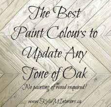 the best paint colours to go with any tone of oak including red, yellow, orange, pink, dark, light and more
