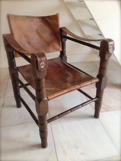 Safari stoel Safari chair lounge chair Vintage chair