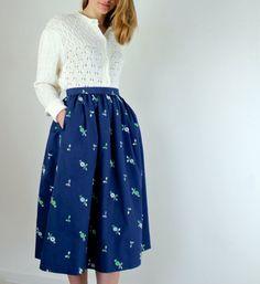 Embroidered Skirt by jessjamesjake on Etsy