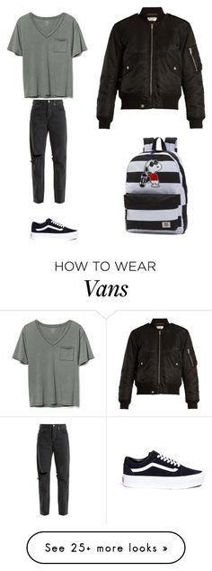 """My fav T-shirt contest"" by okayscarlett on Polyvore featuring Gap, Yves Saint Laurent, RE/DONE, Vans and MyFaveTshirt"
