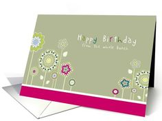 Happy Birthday from all of us, Business birthday card, floral design card