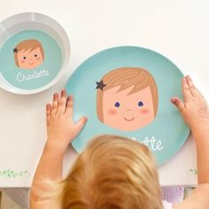 Personalized plates for kids fun products that picky eaters as olliegraphic personalized plate and bowl set too cute negle Images