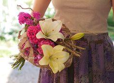 #buchet modern cu #crini #garofite turcesti #flori de gradina #iunie #lilly #Sweet William #garden #flower #bouquet #june
