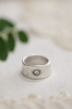Sunburst diamond ring:  Size: 6 or 6.5