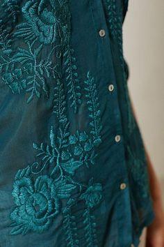 Embroidered Details ~ Teal