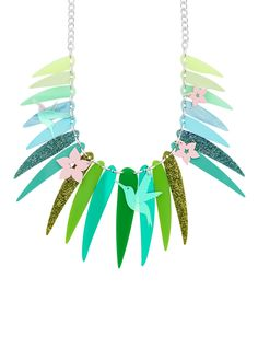 Tropical Palm Leaves Statement Necklace £175 - SS18 Photosynthesister