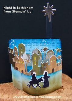 Stampin Up UK Demonstrator independent supplier paper craft scrapbooking tutorials lincolnshire: Christmas Card Club - The Nativity