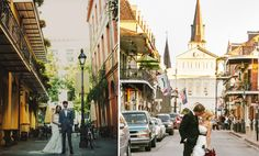 What makes New Orleans a great destination for your wedding is the culture and history behind the hidden gems you will find in the city.  If you're a bride with a wild side, and want to capture the essence of a New Orleans celebration, then Bourbon Street might have your name on it. Another favorite place to get photos taken are in Jackson Square where the St. Louis Cathedral is. There is a $50.00 city fee to take photos in Jackson Square, but it is definitely worth it.