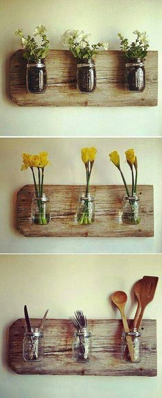 Use mason jars as tea bag holders!
