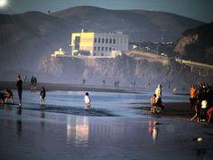"""""""Sun Pee.""""  Cliff House.  Ocean Beach, San Francisco.  From my Ocean Beach series.  I live on the beach."""