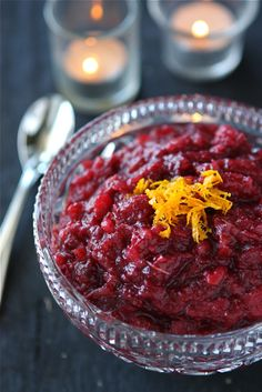 Apple & Cranberry Sauce with Orange & Crystallized Ginger