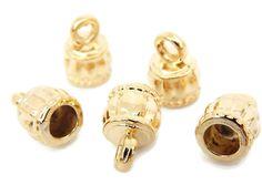 CAP2015C Capuchón en chapa de oro 14k, medida 8mm altura 1.5cm, precio x gramo $3.20 pesos, precio medio mayoreo (100 gramos)$3.10, precio mayoreo (250 gramos)$3, precio VIP(500 gramos) $2.90
