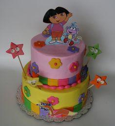Dora Birthday Cake cakepins.com