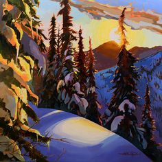 Stephanie Gauvin is a contemporary landscape painter, a Signature member of the Federation of Canadian Artists out of British Columbia. Landscape Art, Landscape Paintings, Seascape Paintings, Painting Abstract, Acrylic Paintings, Oil Paintings, Mountain Art, Blue Mountain, Pastel