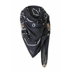 ff283b3b8668 NOOSA Sjaal Black Beige